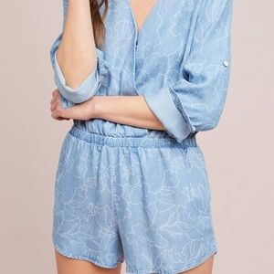 Cloth and Stone Denim Romper Size Large